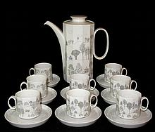 Rosenthal Winterreise Coffee Pot & 8 Espresso Cups
