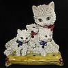 Vintage Italian Ceramic Spaghetti Cat Sculpture