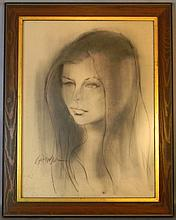 Anthony Scornavacca Charcoal Portrait of a Woman