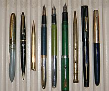 FOUNTAIN PENS & PENCILS 14K & GF PARKER SHEAFFER'S