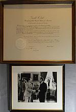 PRESIDENT FORD & KISSINGER SIGNATURE & PHOTO 1975