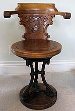 THE BEST 19TH  C SHIP CAPTAIN'S SWIVEL CHAIR Peninsular & Oriental Steam Co.