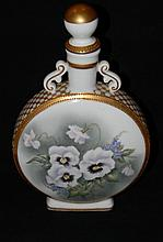 MARIA SALDARRIAGA LIMOGES PORCELAIN MOONFLASK