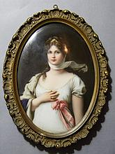 KPM QUALITY PORCELAIN QUEEN LOUISA PRUSSA PORTRAIT