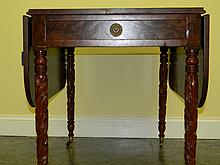 NEW YORK CARVED PEMBROKE TABLE BY S. CARTER C.1830