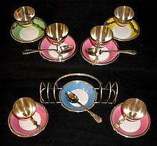 ROYAL DOULTON EGG CUPS & TOAST HOLDER for HARROD'S