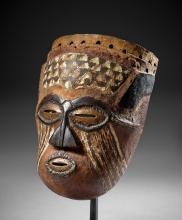 Masque Kuba/Lele   République Démocratique du Congo