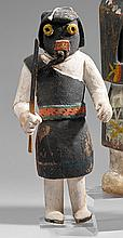 KACHINA Soyok Mana Cotton wood, pigments , laine