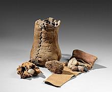 RARE SAC DE MEDECINE « MEDECINE BUNDLE » Pueblo XIX° siècle