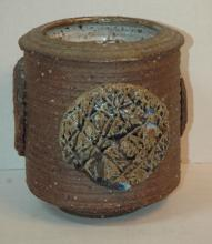Mid Century Modern Pottery vase, Brown