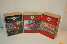 Lot of 3 Wings of Texaco Model Airplane Banks