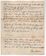 Uncle of Abraham Lincoln Signed Document 1805 Kentucky