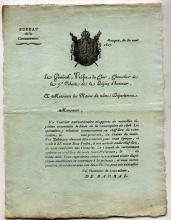 FRANCE] Napoleonic 1807 document