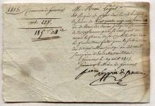1815 French military document