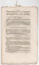 1810 Bulletin Des Lois - French