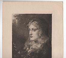 Anna Lea Merritt (1844-1930) Etching