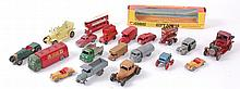 DIECAST; A good interesting small collection of diecast to include several Dinky Toys Dublo, AEC Mercury, an early Charbens Horse Transport in brown, Benbros fire engine, A Corgi Whizzwheels Gift Set 26 box (in very good condition), Lesney, and