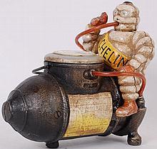 MICHELIN MAN; A vintage style cast iron advertisin