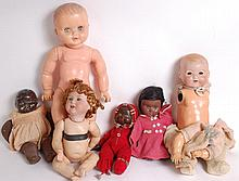 DOLLS: A very good selection of antique and early