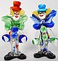 Two glass Murano Clowns