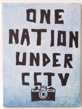 ONE NATION: A canvas painted work '