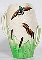 A 1920's vase with Mallard duck decoration.