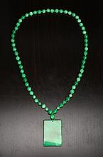 Chinese Hardstone Pendant Necklace