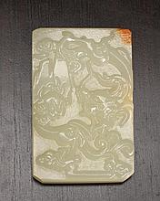 Chinese Glass Plaque