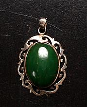Taiwanese Sterling & Jade Pendant