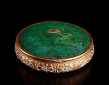 Brass, Enameled & Embroidered Compact