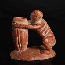 Chinese Republic Soapstone Monkey Carving