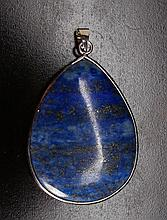 Chinese Mounted Lapis Lazuli Pendant