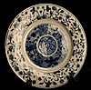 Chinese Kangxi Blue & White Porcelain Plate