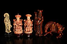 5 Chinese Molded Figures