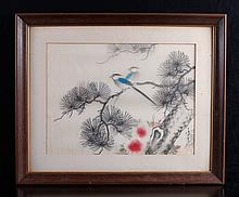 Chinese Watercolor Painting on Silk