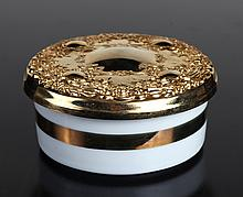 24K Gold & Porcelain The Art of Chokin Trinket Box