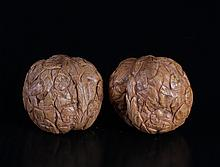 Pair of Chinese Carved Walnuts