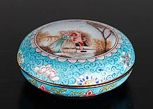 Chinese Enameled Ink Paste Box