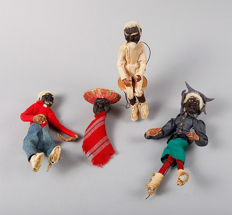 4 Mexican Handmade Dried Dolls