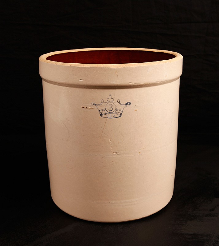 Early American Robinson Ransbottom 3 Gallon Crock