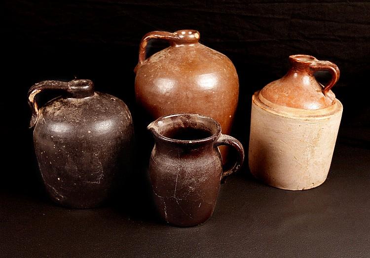 4 American Stoneware Jugs