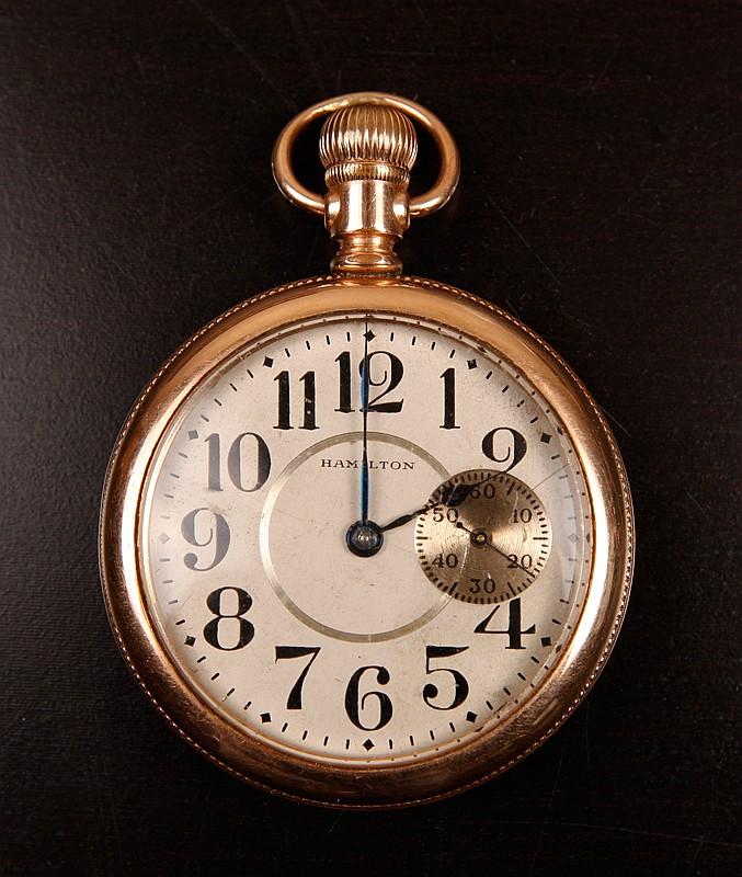 Antique Hamilton Gold Filled Pocket Watch