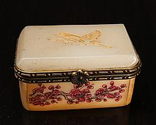 Chinese Bone & Jade Trinket Box