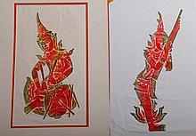 2 Tibetan Relief Prints