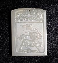 Chinese Carved Hardstone Plaque