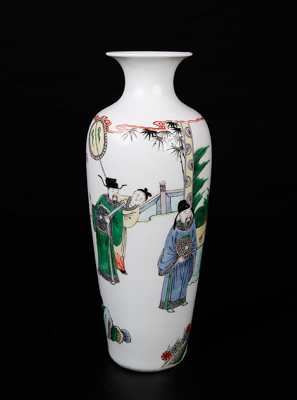 Chinese 5 Color Porcelain Vase