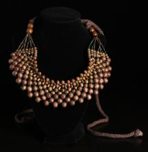 Chinese Wood Apron Necklace