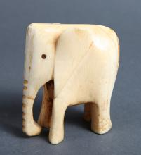 Antique Chinese Carved Ivory Elephant