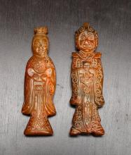 2 Chinese Carved Hardstone Figures