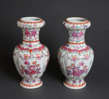 Pair of Large Chinese Republic Porcelain Vases